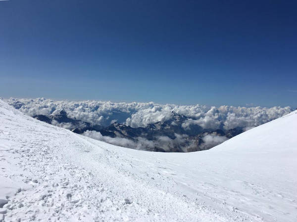 The view from The Saddle, Mount Elbrus.