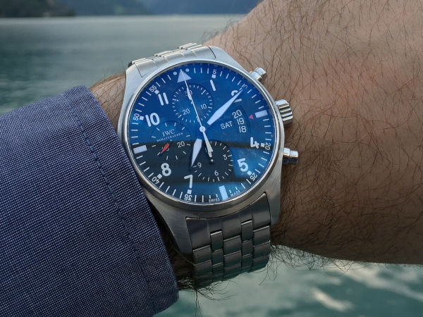 IWC Pilot's Watch Chronograph representing the aviation watch. A sport watch is one of the three watches everyone should have.