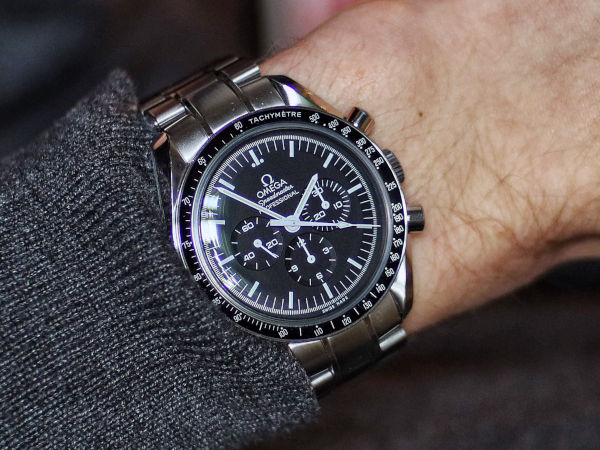 Omega Speedmaster, representing the racing watch. A sport watch is one of the three watches everyone should have.