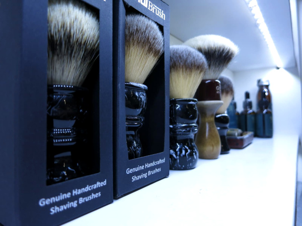 Examples of shaving brushes available