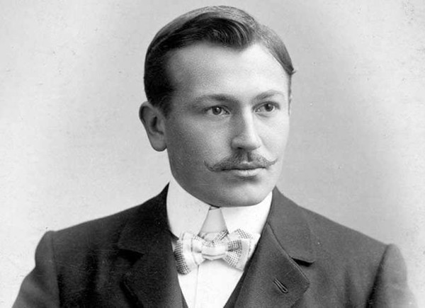 Profile photo of Hans Wilsdorf, the co-founder of Wilsdorf & Davis, which subsequently became the House of Rolex. He's also the creator of the Rolex watch.