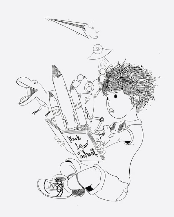 A young child's imagination is the start to their dream of what they want to be when they grow up.