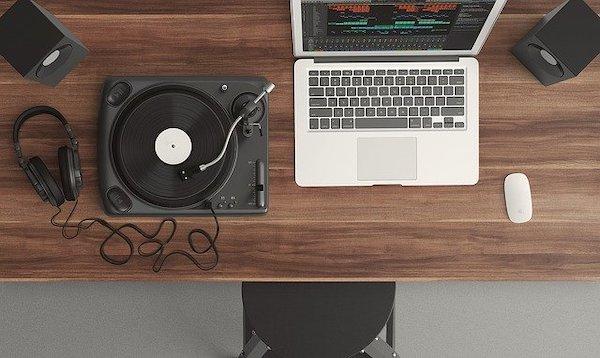 Record Label: Small music studio at home.
