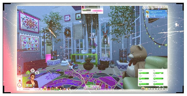 A screenshot of the Sims 4 games that she played since young, which inspired her passion.