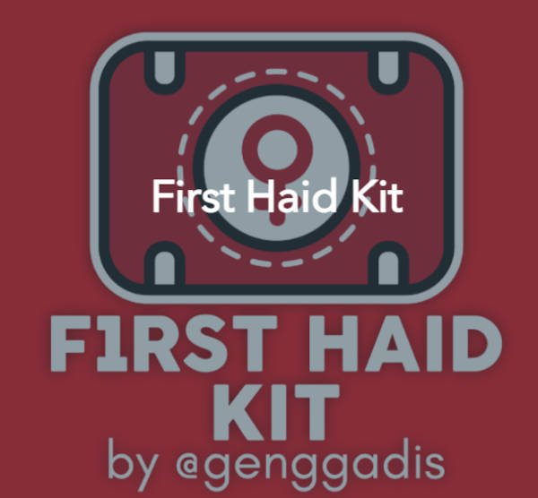 The first haid kit logo by Geng Gadis. A red case with the female sign on it.
