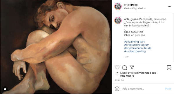 Nude male art hugging his knees to his chest. Nudity shouldn't be seen as something obscene. It should be seen as the vulnerable exposure we face when we take the chance to be vulnerable with others.