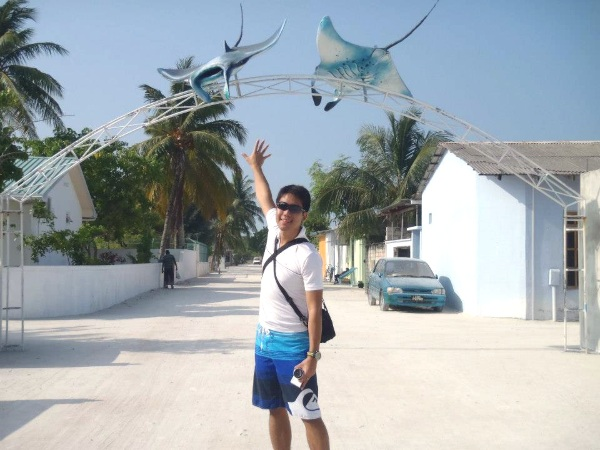 Entrance to the small town of Maafushi in Maldives