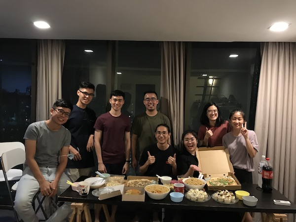 Kam and her former colleagues at Mentah Matter, for a reunion gathering during the Mid-Autumn Festival.