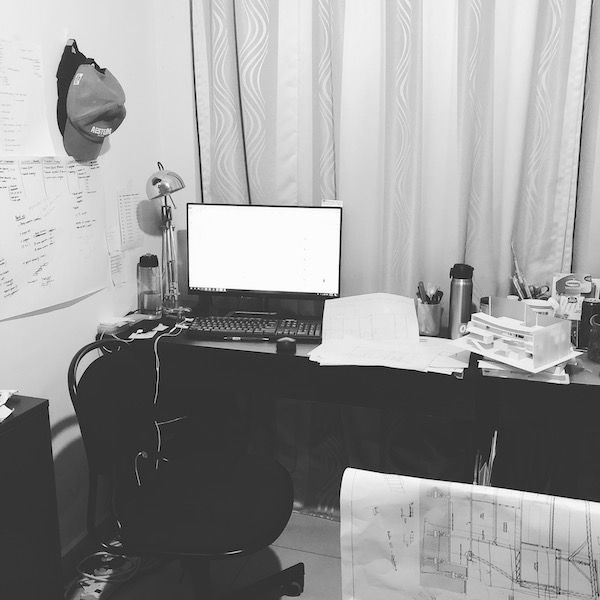 The working desk that Jia Xin spent most of her time at during the three years of her studies.